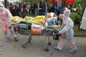 Olsztyn: ćwiczenia ratownicze z udziałem pogotowia i szpitali na wypadek skażeń chemicznych