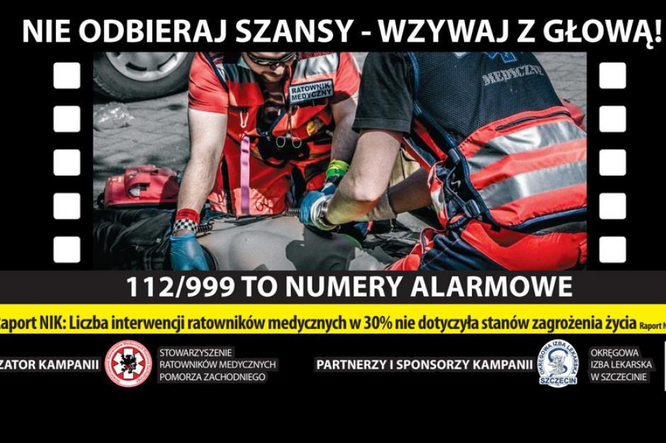 Szczecin: ratownicy medyczni zorganizowali kampanię społeczną, billboardy zawisną...