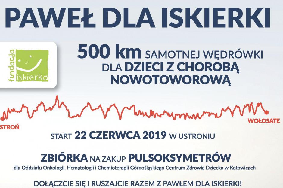 Przejdzie w górach 500 kilometrów dla dzieci z chorobą nowotworową