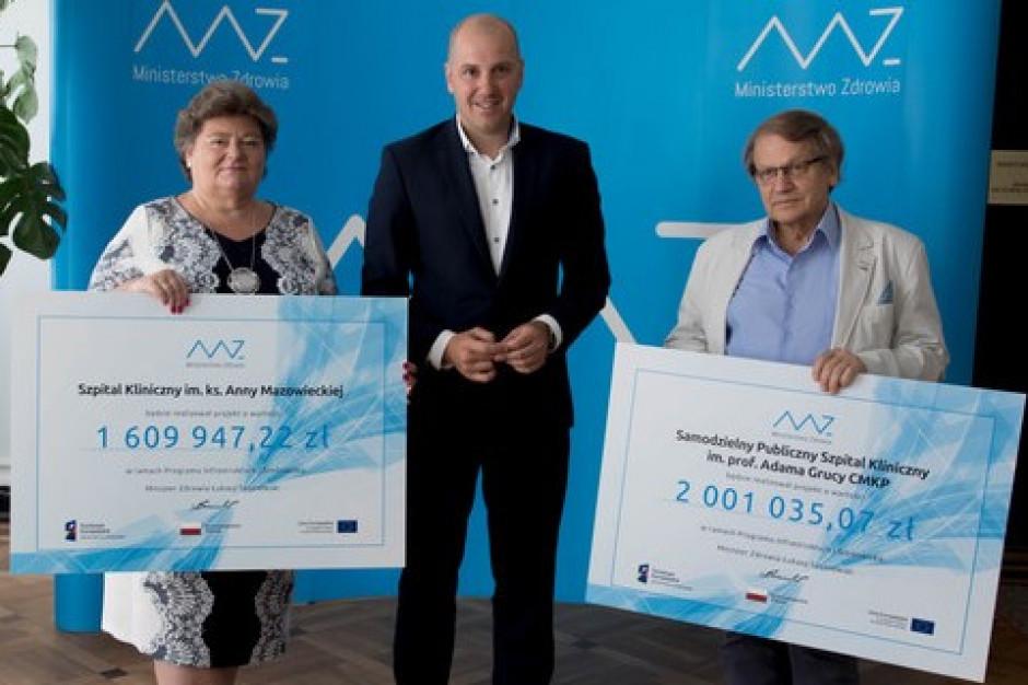 MZ: dwa szpitale na Mazowszu z unijnym dofinansowaniem
