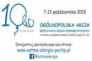 Dni Spirometrii już w październiku, organizatorzy zapraszają lekarzy...