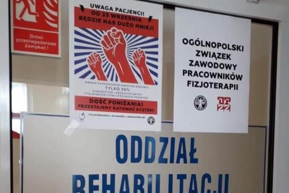Fizjoterapeuci i diagności laboratoryjni rozważają powrót do protestu