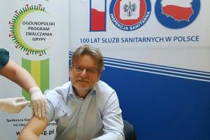Pracownicy GIS łącznie z Inspektorem zaszczepili się przeciw grypie