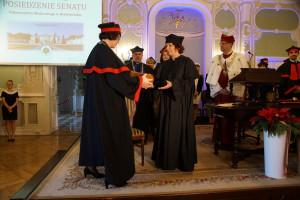 Dr Genoveffa Franchini doktorem honoris causa Uniwersytetu Medycznego w Białymstoku