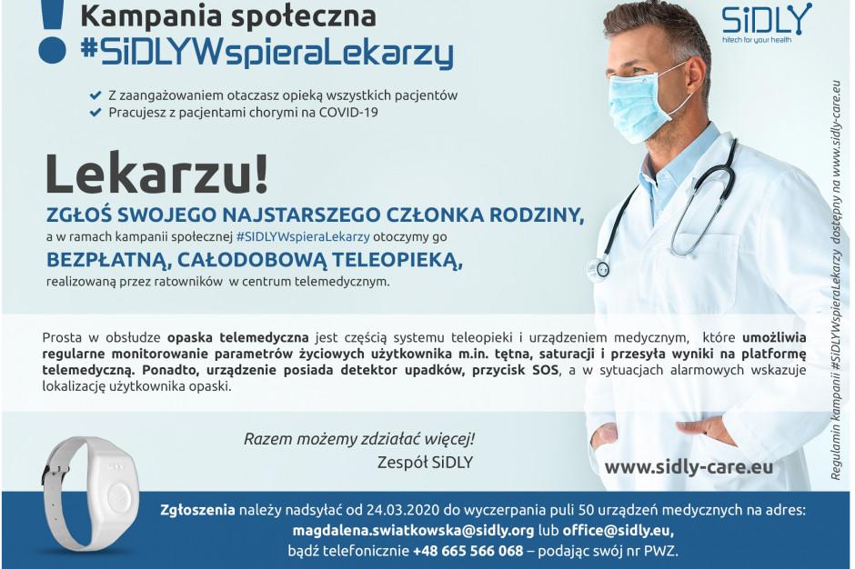 SiDLY oferuje lekarzom bezpłatną opiekę nad ich bliskimi podczas epidemii