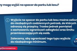 Na gov.pl/koronawirus odpowiedzi na pytania, co wolno zgodnie z nowymi zasadami