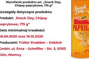GIS: chipsy z Lidla wycofane ze sprzedaży; wykryto substancję alergenną