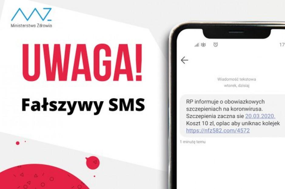 Ministerstwo Zdrowia ostrzega przed fałszywymi SMS-ami o szczepionce na koronawirusa
