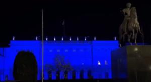 Warszawa: iluminacje w Światowym Dniu Zdrowia na Pałacu Prezydenckim i gmachu Sejmu