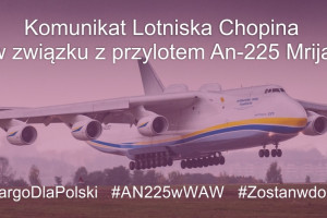 Na Lotnisku Chopina wyląduje największy samolot świata ze sprzętem medycznym - będzie relacja na żywo