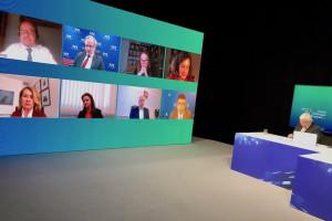 """HCC Online, sesja: """"Finansowanie ochrony zdrowia - nowe spojrzenie w dobie pandemii""""' FOT. PTWP"""