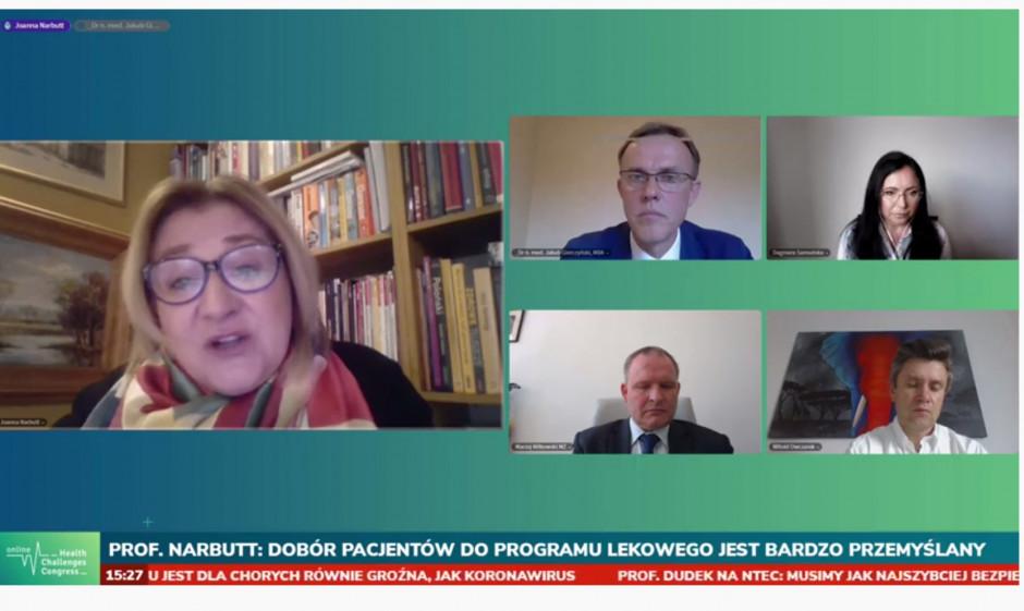 Prof. Narbutt na HCC Online: nowe leki dają dłuższy okres remisji łuszczycy