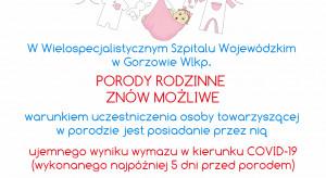 Gorzów Wlkp.: porody rodzinne w WSW znów możliwe, ale jest kilka warunków…