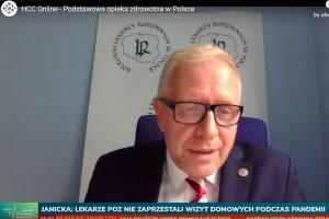 Dr Sutkowski na HCC Online: w czasie pandemii mieliśmy w POZ więcej czasu dla pacjentów, tak trzymać
