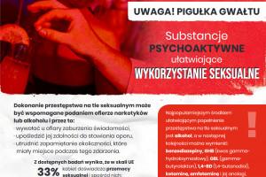 Uwaga, pigułka gwałtu! – powstała broszura o objawach odurzenia i jak się chronić
