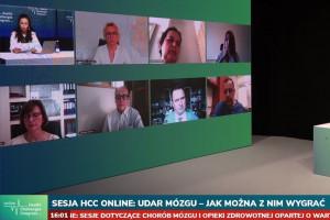 HCC Online: podczas sesji dotyczącej udaru mózgu; FOT. PTWP