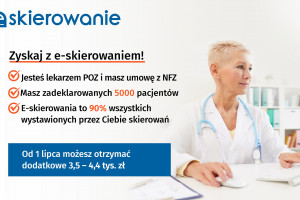 Premia za e-skierowania: nawet do 30 tys. zł dla AOS i ponad 4 tys. zł dla POZ
