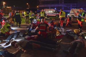 Katastrofy i zdarzenia masowe wymagają integracji działania wielu służb, w tym ratownictwa medycznego; FOT. UJ CM