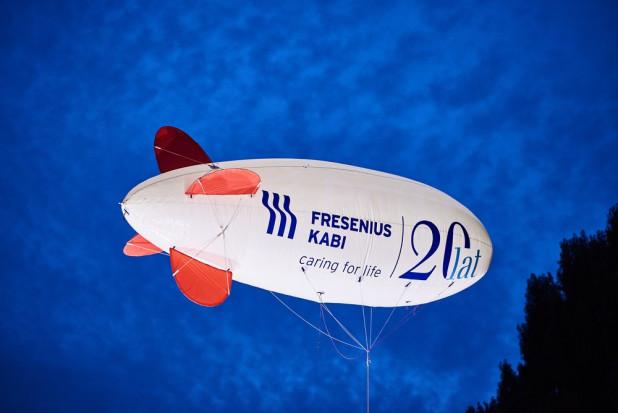 Jubileuszowy balon Fresenius Kabi nad Kutnem