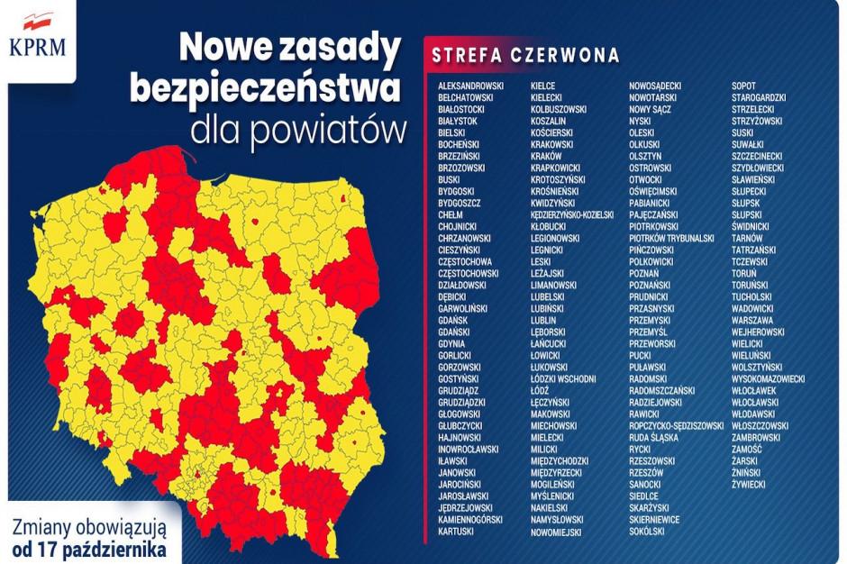 Niedzielski: w strefie czerwonej znajdą się 152 powiaty. Które?