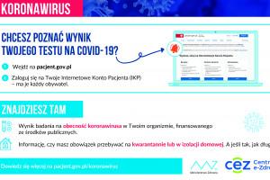 CeZ: informację o kwarantannie lub izolacji znajdziesz na Internetowym Koncie Pacjenta