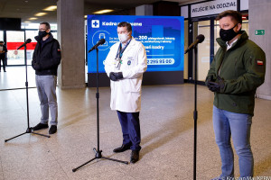 Dr Zaczyński odnosi się do wywiadu z lekarką, która chciała przekazać chorego do Szpitala Narodowego