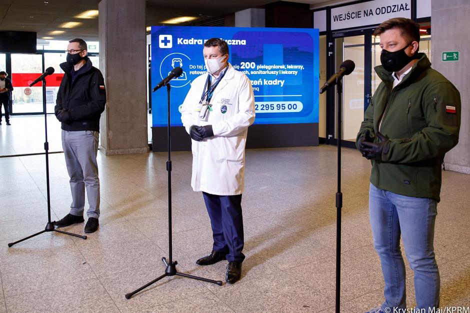 Dr Zaczyński: wyszczepiliśmy ponad 600 osób w CSK MSWiA i szpitalu tymczasowym, dziś kolejne 400 osób