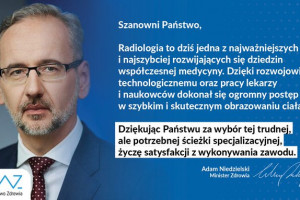 Światowy Dzień Radiologii: minister zdrowia składa życzenia