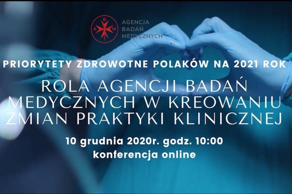 Agencja Badań Medycznych zaprasza na konferencję o priorytetach zdrowotnych Polaków