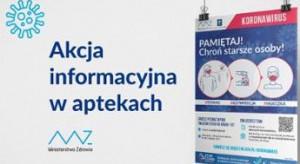 Kampania edukacyjna w aptekach - będą plakaty, co robić m.in. przy podejrzeniu koronawirusa