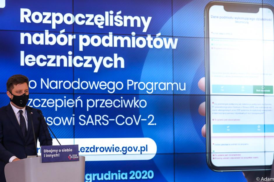 Dworczyk: od piątku rusza nabór podmiotów zainteresowanych udziałem w programie szczepień przeciwko COVID-19
