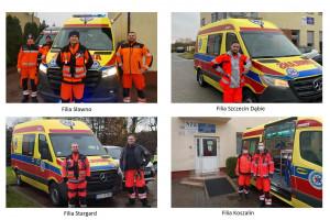 Zachodniopomorscy ratownicy medyczni cieszą się z 6 nowych ambulansów. Trafiły do filii w...