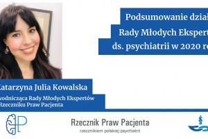 RPP: podsumowanie działań Rady Młodych Ekspertów ds. psychiatrii w 2020 roku