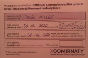 Leszek Miller i Krystyna Janda już po szczepieniu przeciw Covid-19. Niedzielski zleca kontrolę szczepień spoza grupy zero