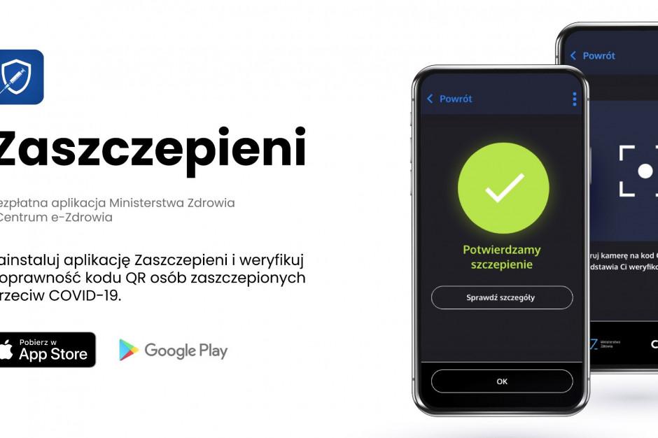 Aplikacja ''Zaszczepieni'' jest już dostępna - podało Centrum e-Zdrowia