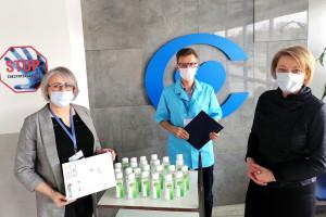 Do CZD trafiły podarowane żele dezynfekcyjne do rąk
