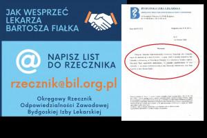 """Nauczyciele bronią lekarza Bartosza Fiałka. """"Piszemy maile do rzecznika"""""""