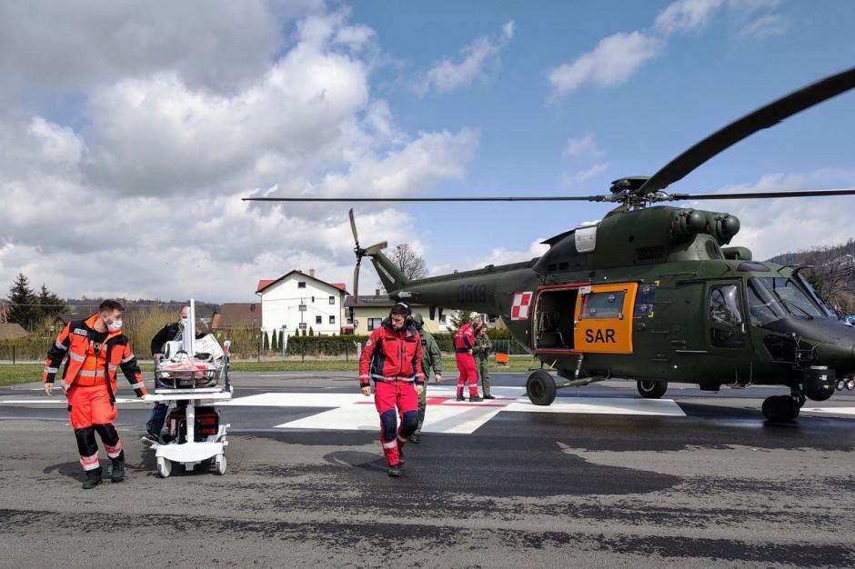 Lot po życie: 43-letnią pacjentkę śmigłowiec przetransportował z Żywca do Łodzi