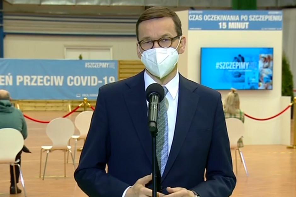 Morawiecki o rosnącej liczbie szczepień: nasza presja na Unię Europejską ma sens