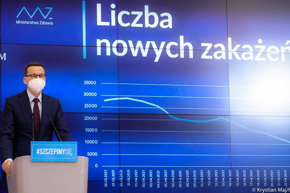 Morawiecki o planie odmrażania gospodarki: od 4 maja galerie handlowe, od 15 maja ogródki