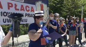 Protest pielęgniarek - oglądaj na żywo