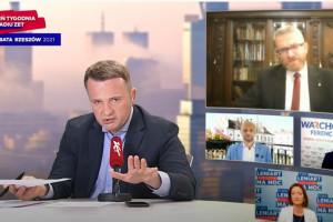 Braun nazwał ministra Niedzielskiego psychopatą - prowadzący usunął go z debaty