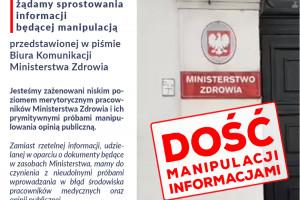 """Krystyna Ptok oskarża pracowników resortu zdrowia o """"prymitywne próby manipulowania opinią publiczną"""""""