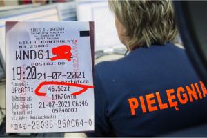 """""""Pierwsze dwie godziny pracuję, żeby zarobić na parking"""". Pielęgniarka pokazała paragon za postój w Warszawie"""