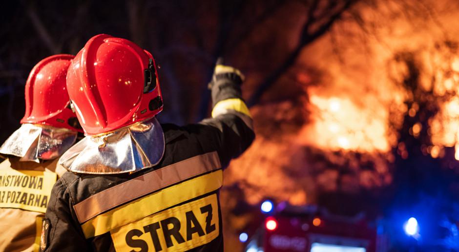Podpalono budynek sanepidu i punkt szczepień w Zamościu. Sprawców szuka policja