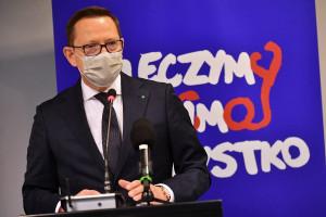 """Krajewski o proteście: nie czas by się okopywać. """"Za bezpieczeństwo zdrowotne odpowiada premier i MZ"""""""