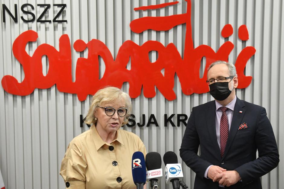 Maria Ochman z Solidarności w ochronie zdrowia. To z nią rozmawia minister Niedzielski
