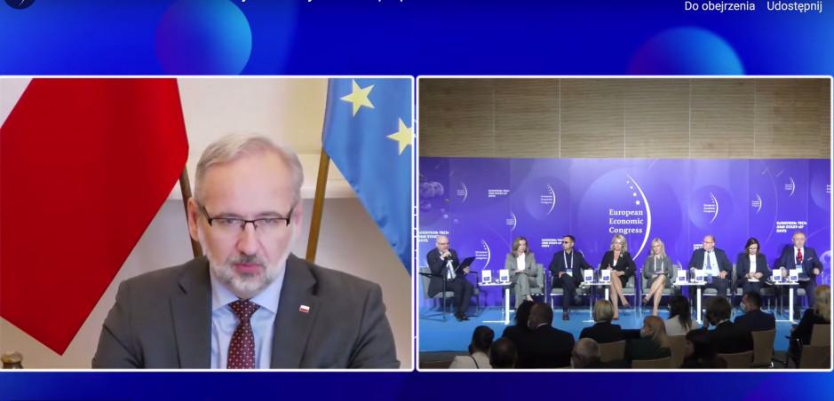 Adam Niedzielski podczas sesji o przyszłości ochrony zdrowia, EEC 2021 FOT. PTWP
