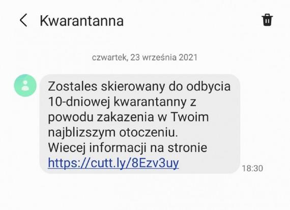Fałszywy SMS o skierowaniu na kwarantannę.jpg